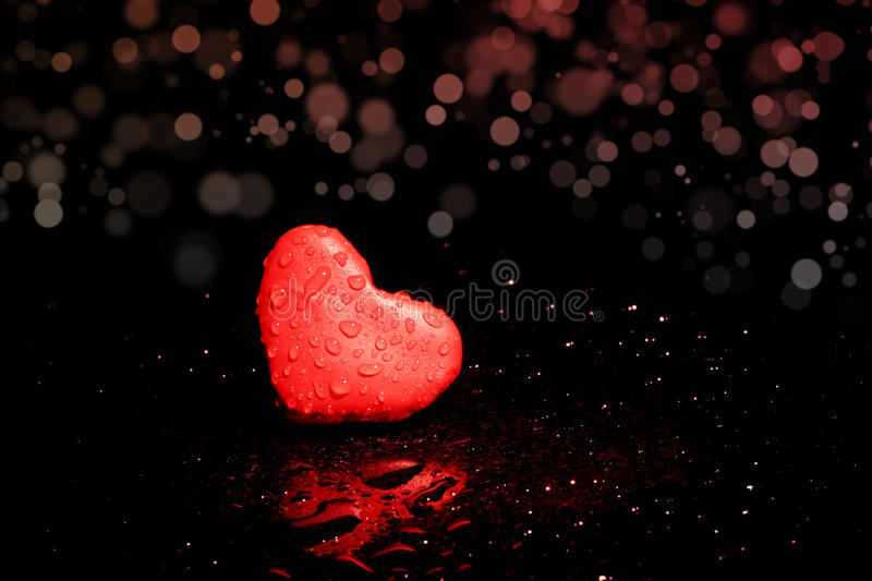 Lonely heart royalty free stock photo