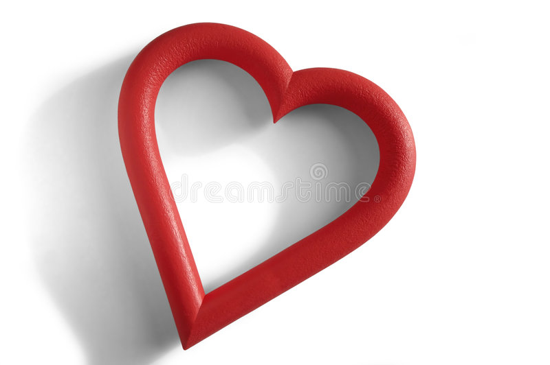 Lonely Heart. A Valentine's heart-shaped frame in white background royalty free illustration