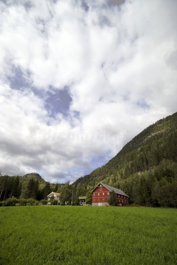 Download Lonely House On Hill,Norway Royalty Free Stock Photos - Image: 3010298