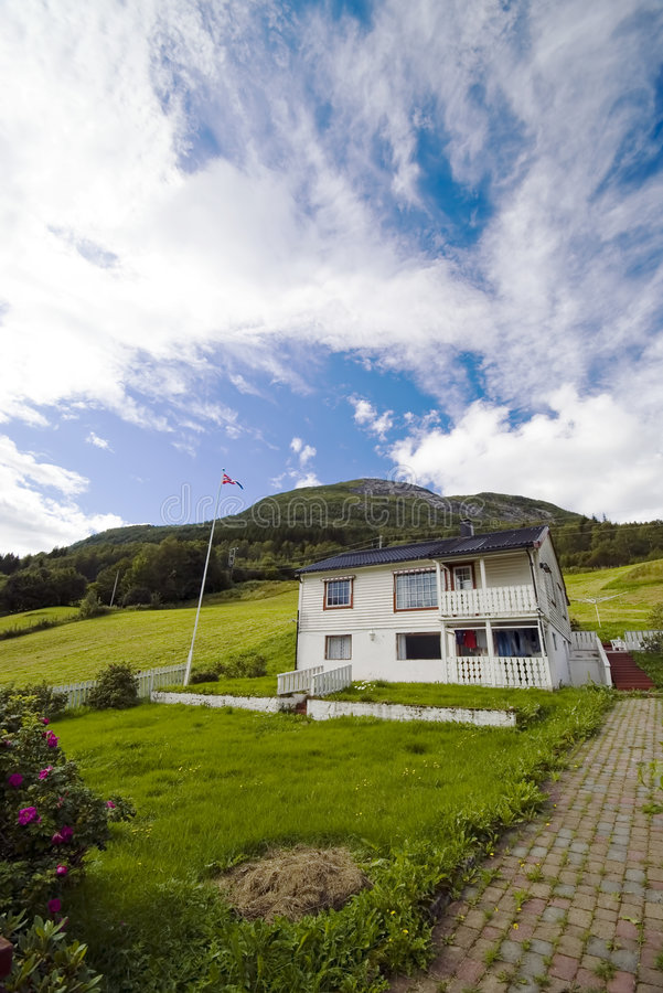 Download Lonely House On Hill,Norway Stock Photo - Image: 3113360