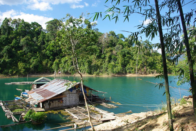 Lonely House In Jungle - Khao Sok Royalty Free Stock Image