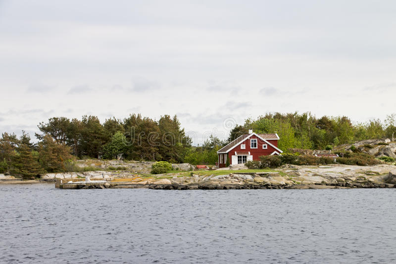 Lonely house stock photos