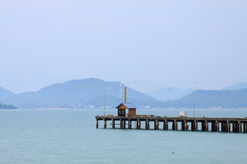 Download Lonely house in sea stock image. Image of natural, path - 26296031