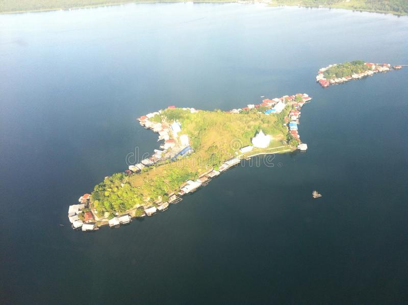 Lonely Island. An island located on Sentani Lake, Papua royalty free stock images