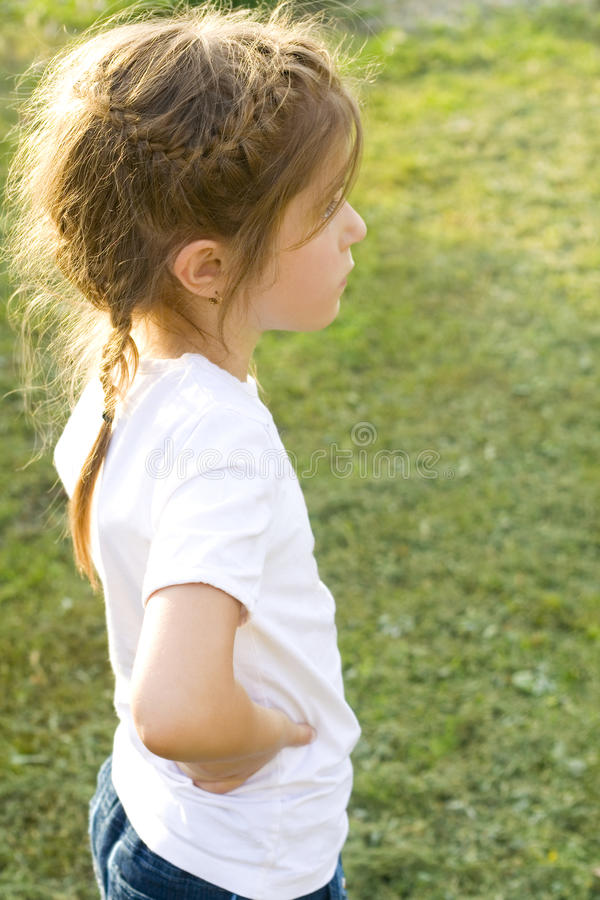 Download Lonely kids stock photo. Image of unhappy, child, thinking - 26686766