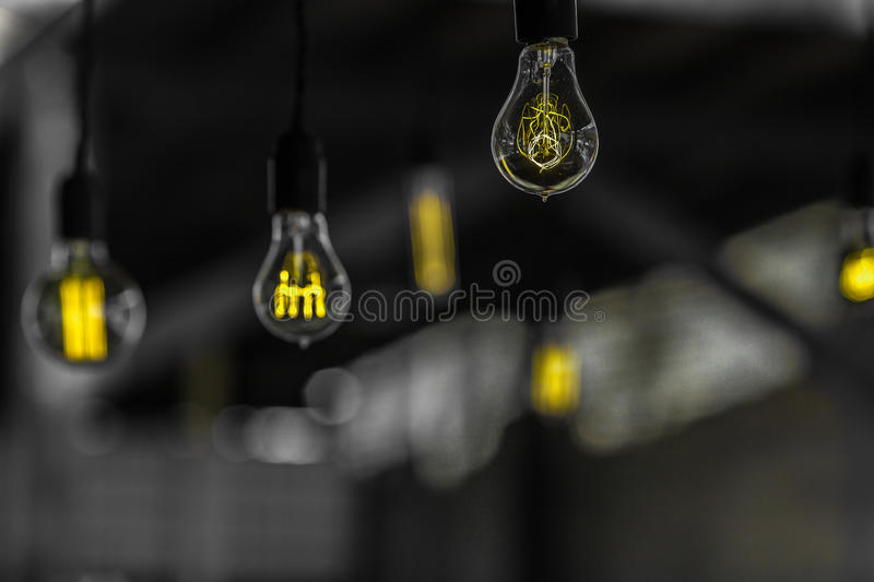 Lonely Light Bulbs stock image