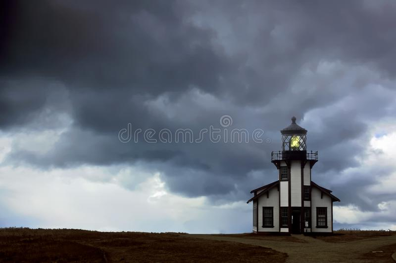 Lonely light house stock images