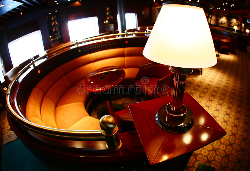 Lonely Lounge lamp stock images