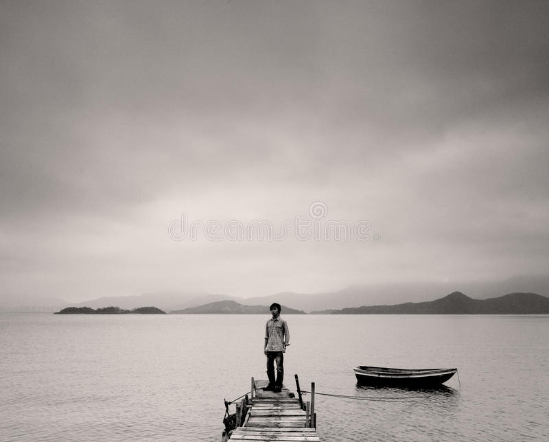 Download Lonely man stock image. Image of evening, depression - 17344867