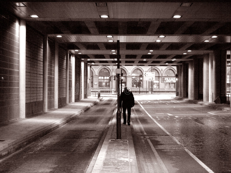 Download Lonely man stock image. Image of london, grey, alone, rainy - 8379155