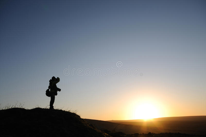 Download A lonely man on the moor stock image. Image of dartmoor - 24566569