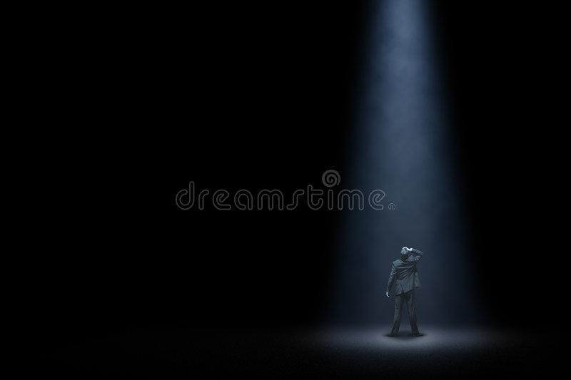 Download Lonely manager stock photo. Image of dark, fear, lonesome - 6941612