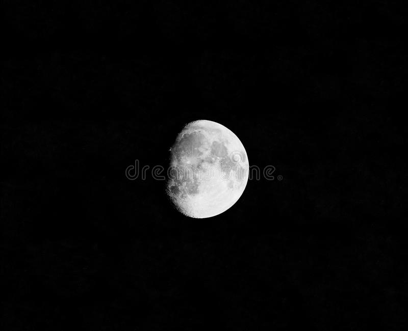 Lonely moon in a dark night royalty free stock images