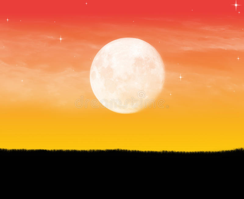 Lonely moon way royalty free stock photo