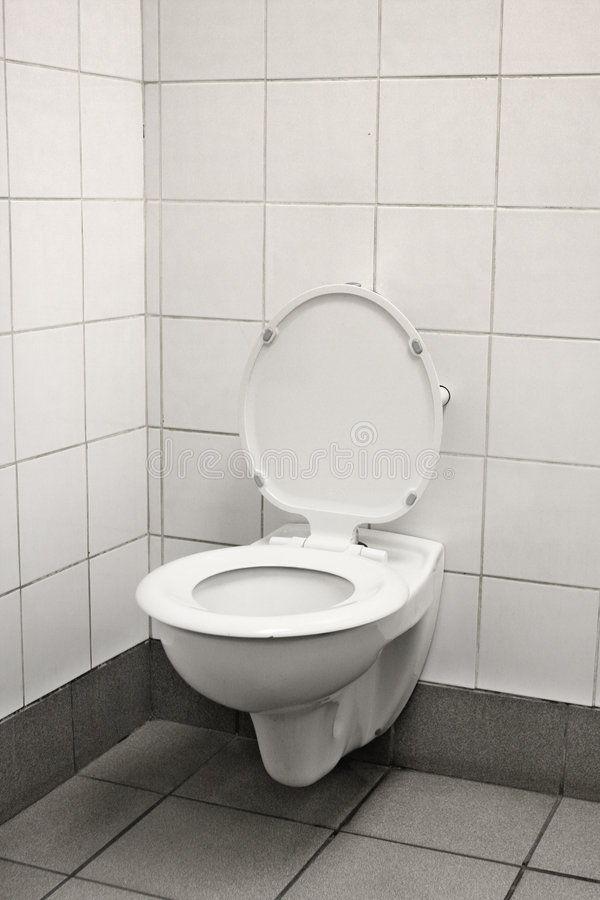 Lonely old loo stock images