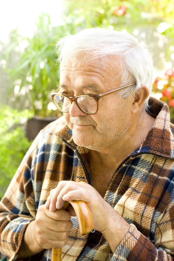 Download Lonely old man stock image. Image of disabled, portrait - 26366239