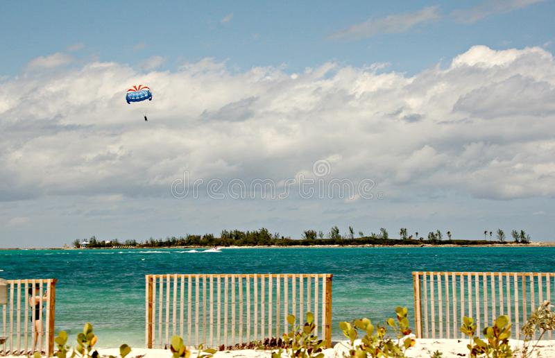 Lonely Parasailor royalty free stock photography