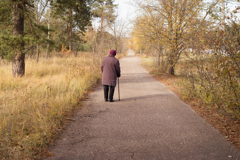Lonely pensioner royalty free stock image
