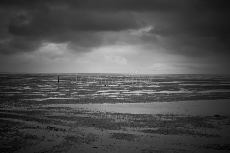 Download Lonely pole stock photo. Image of horizon, terschelling - 18378320