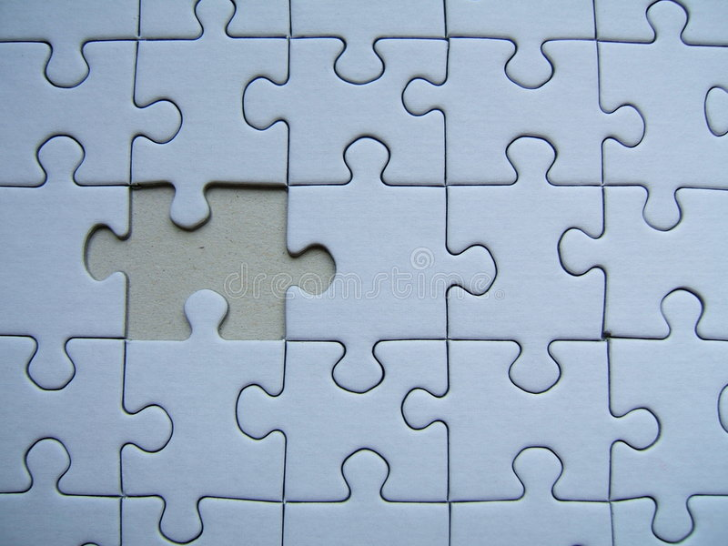 Lonely puzzle stock image