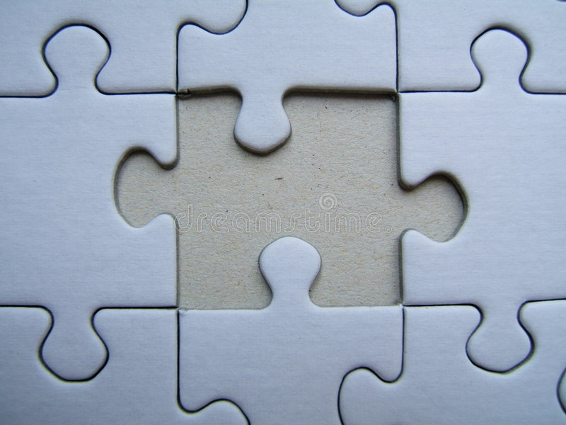Lonely puzzle Close-up stock photo