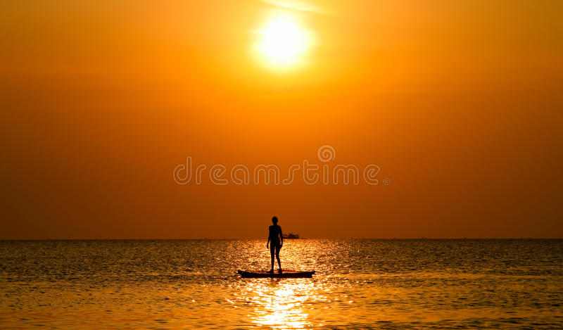 Download Lonely on the raft stock photo. Image of person, atmosphere - 20700382