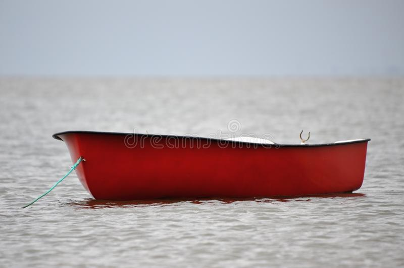 Download Lonely red boat stock image. Image of boat, loneliness - 25644057