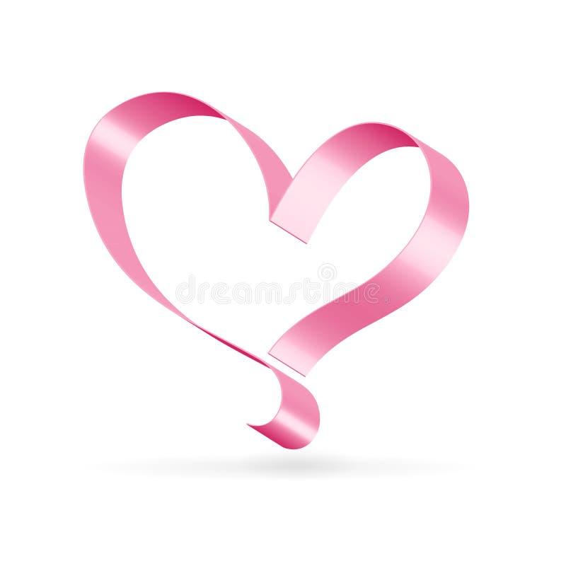 Lonely Ribbon Heart Royalty Free Stock Photos