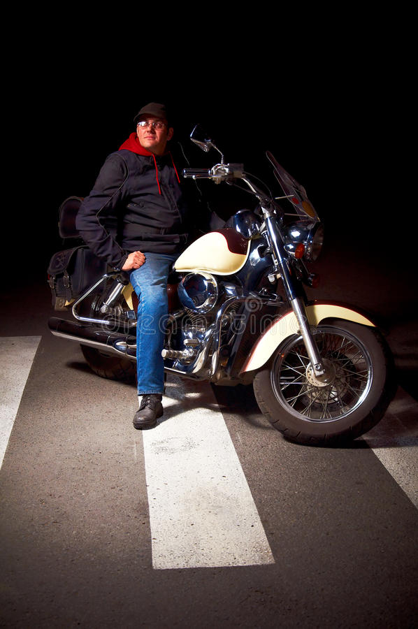 Download Lonely rider stock image. Image of male, chopper, asphalt - 16659115