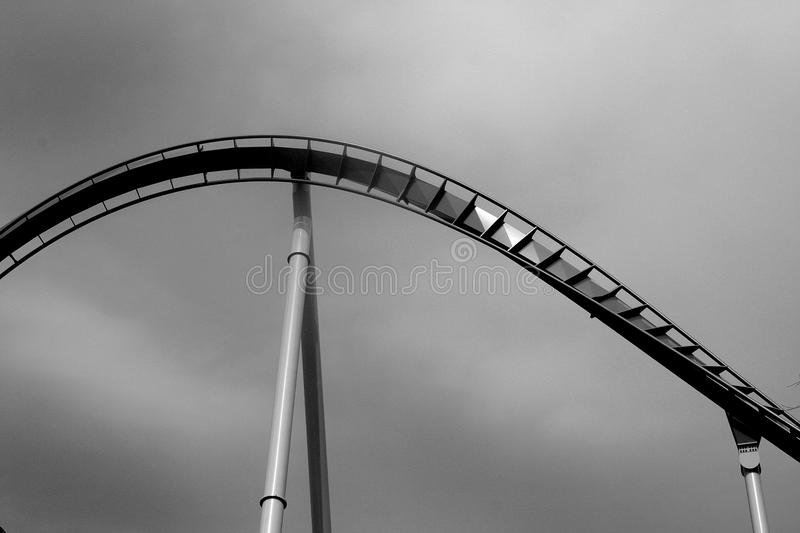 Download Lonely Roller Coaster Tracks Stock Image - Image: 16551593