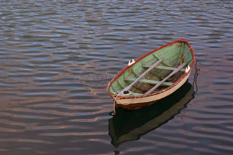 Lonely on the sea royalty free stock images