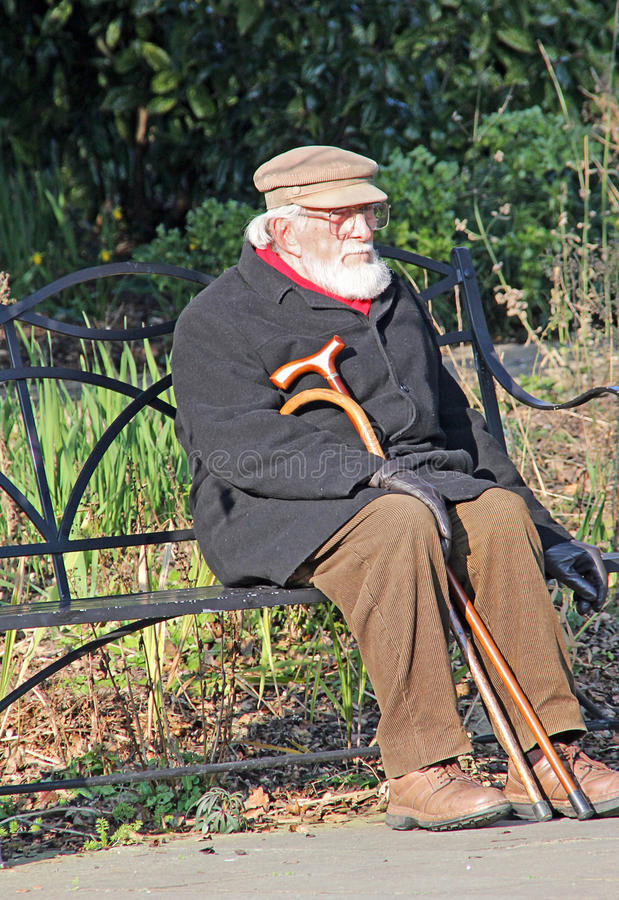 Lonely Senior On Park Bench Editorial Photo Image Of Single People 68445596