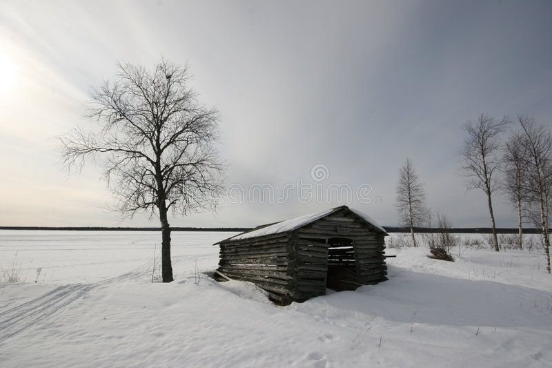 Download Lonely Shack stock image. Image of europe, lonely, suomi - 5033469