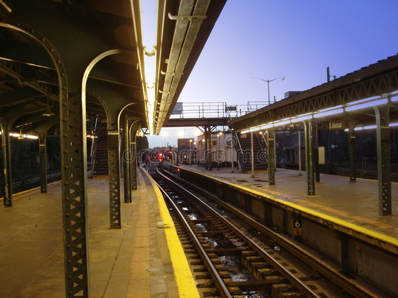 Lonely Subway Station stock image