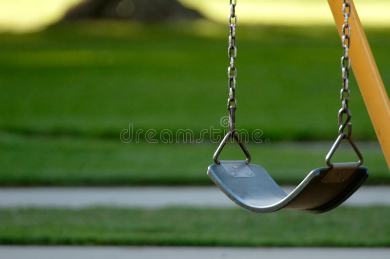 Lonely swing stock photography