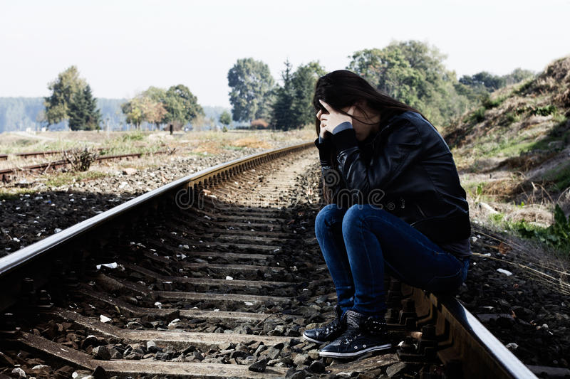 Download Lonely teenage girl stock image. Image of frustration - 27119959