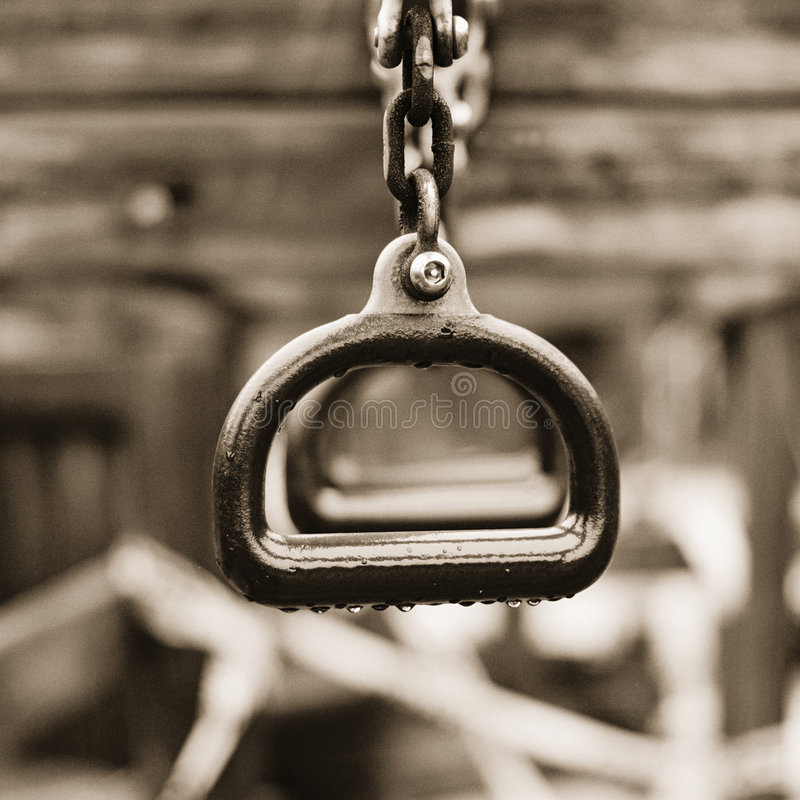 Lonely Trapeze Rings Royalty Free Stock Photo