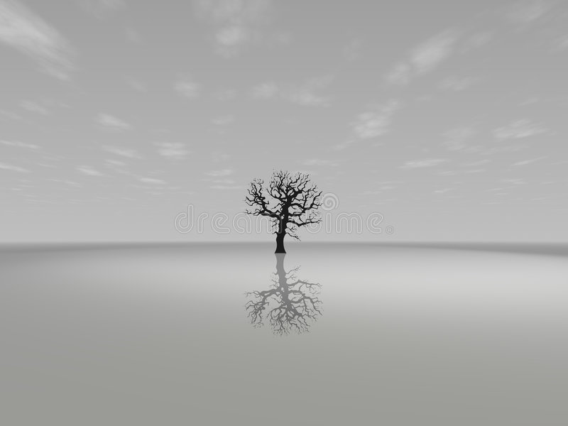 Lonely Tree vector illustration
