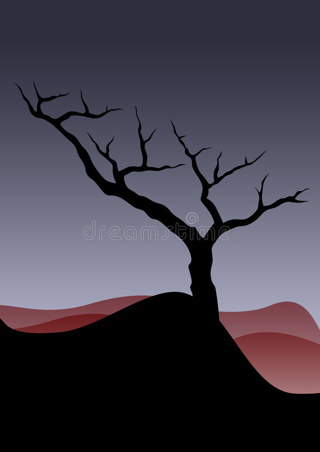 The Lonely Tree Royalty Free Stock Photography