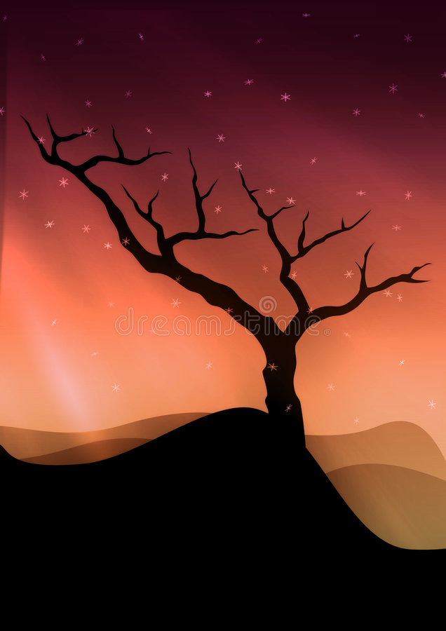 Download The lonely tree stock illustration. Image of tree, lonely - 422838
