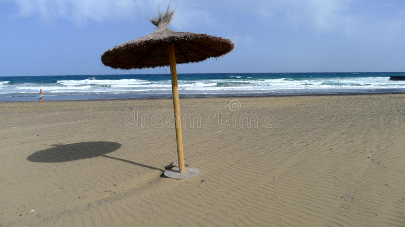Lonely umbrella royalty free stock images