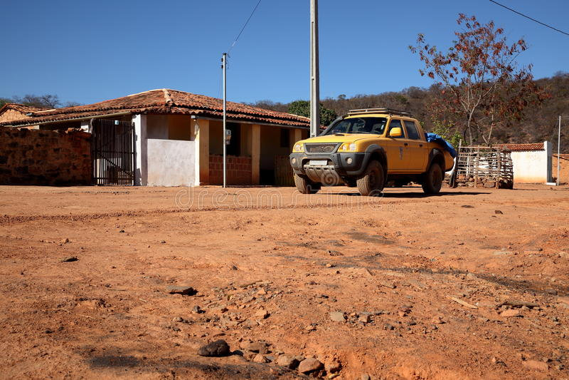 Lonely village Queixo Dantas in the Caatinga of Brazil. The Lonely village Queixo Dantas in the Caatinga of Brazil stock image