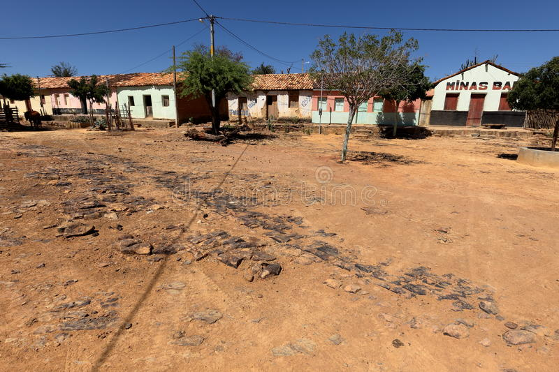 Lonely village Queixo Dantas in the Caatinga of Brazil. The Lonely village Queixo Dantas in the Caatinga of Brazil stock photography