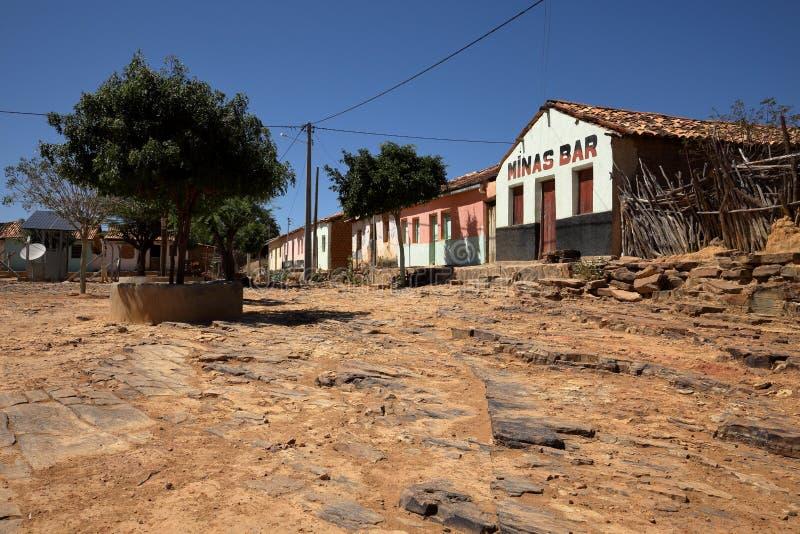 Lonely village Queixo Dantas in the Caatinga of Brazil. The Lonely village Queixo Dantas in the Caatinga of Brazil stock photos