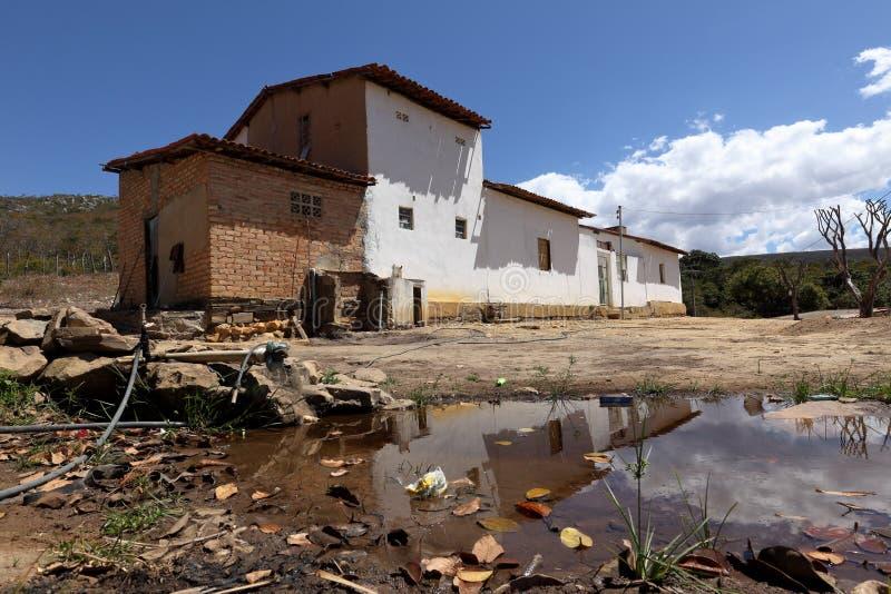 Lonely village Queixo Dantas in the Caatinga of Brazil. The Lonely village Queixo Dantas in the Caatinga of Brazil royalty free stock image