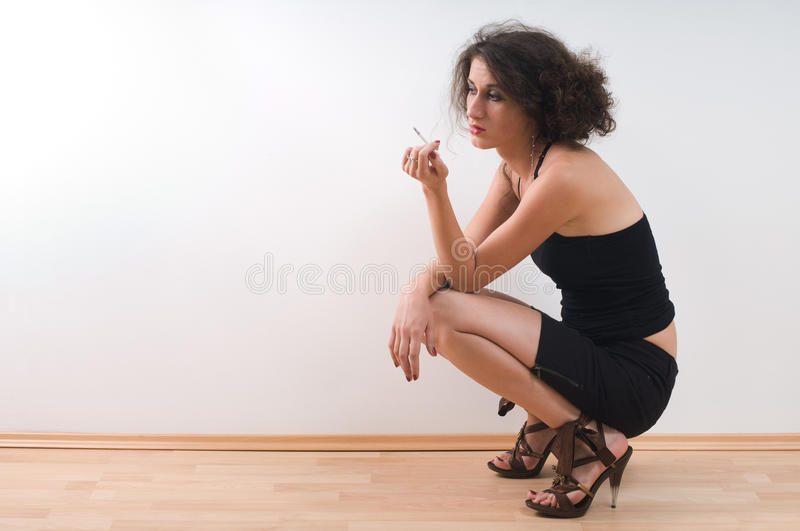 Lonely Woman Royalty Free Stock Photography