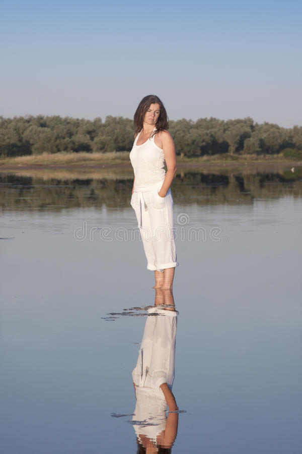 Lonely woman stock photo