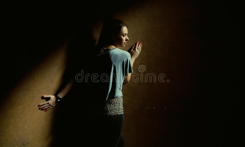 Download Lonely Woman In Calm Place Royalty Free Stock Image - Image: 27375376