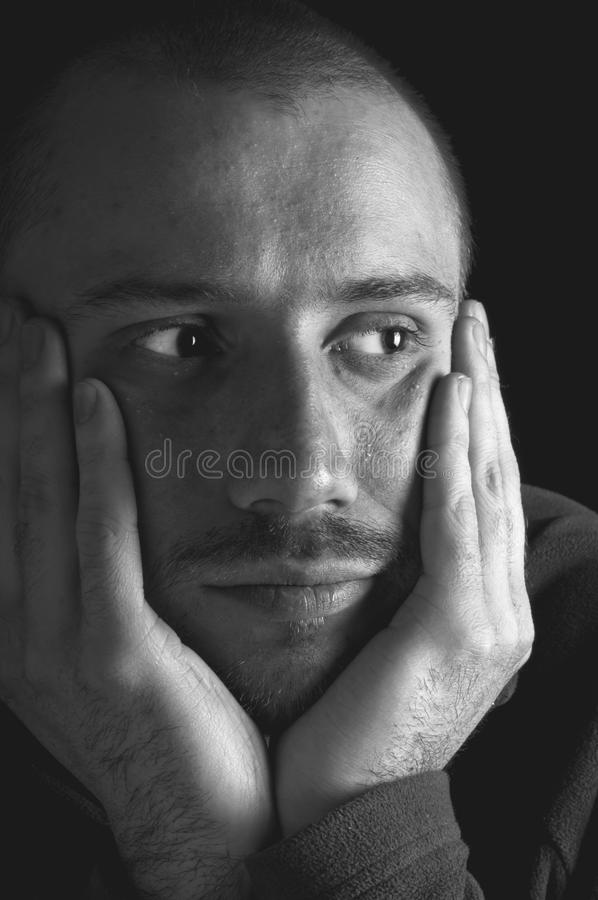 Lonely young man royalty free stock photography