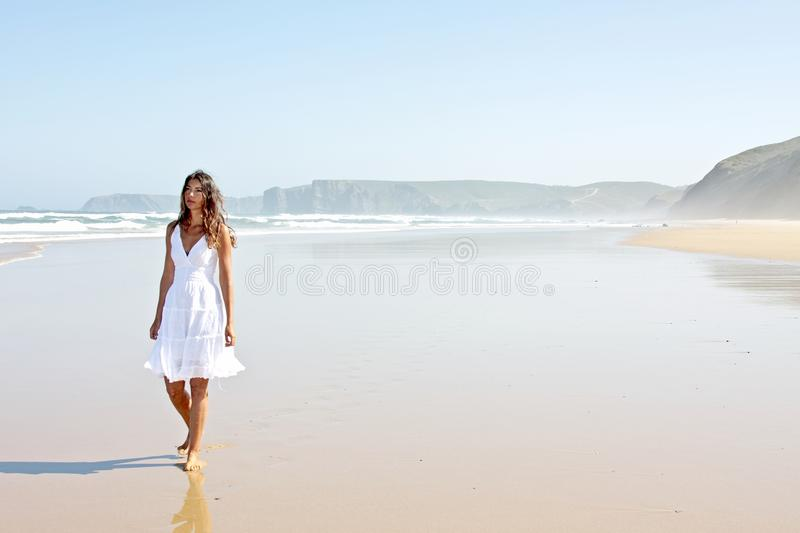 Download Lonely Young Woman At The Beach Stock Image - Image: 15638251